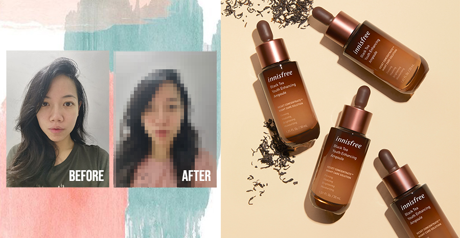 innisfree Black Tea Youth Enhancing Ampoule Review: 10 readers tried the anti-ageing ampoule to see if it could brighten their skin in 7 days