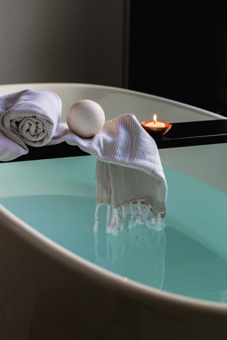 Bath Tub Towel Candle Spa Source Burst Pexels