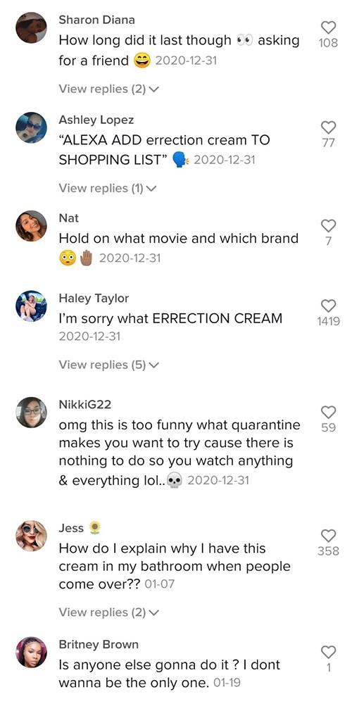 Erection Cream Lip Plumper Jerry Mal Comments