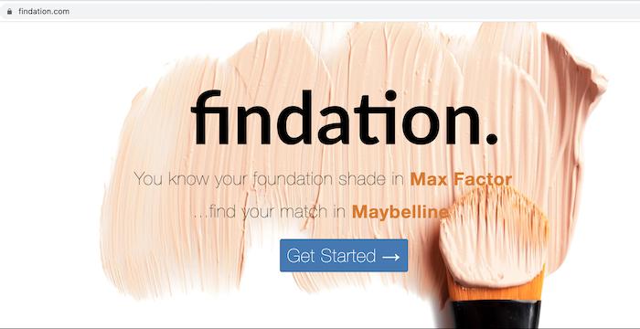 foundation shade finder websites