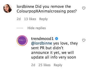 Trendmood Colourpop Animal Crossing