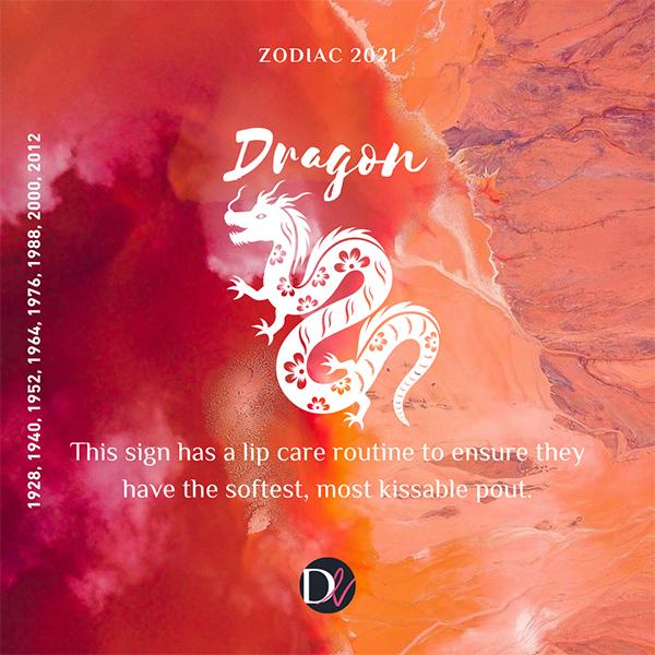Zodiac Beauty Habits 2021 Dragon