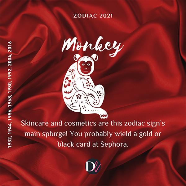 Zodiac Beauty Habits 2021 Monkey