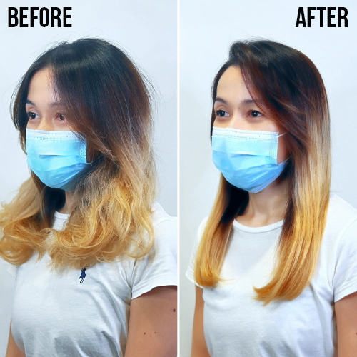 Chez Vous Advanced Sugar Hair Lamination Reviews Ying Lin Before After With Text