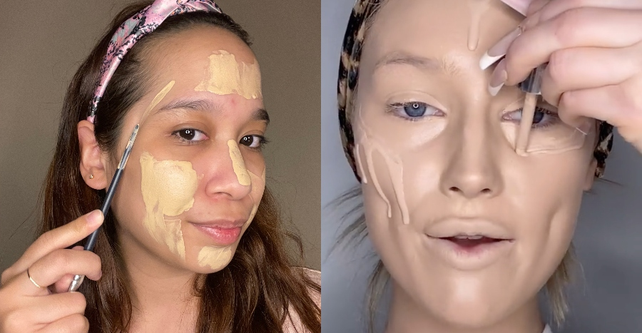 We tried Tik Tok's excessive foundation trend – and here's how it went