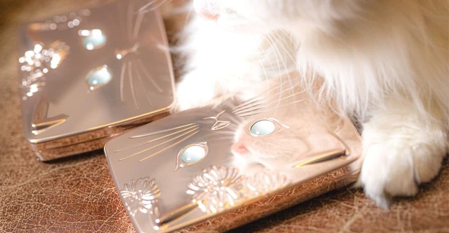 This limited-edition foundation case with a cat design is on every feline lover's wishlist