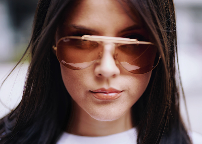 Wearing sunglasses can protect you from dark eye circles