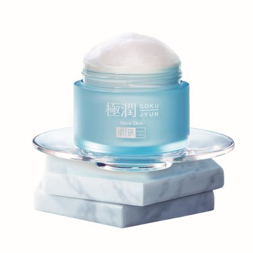 hada labo snow dew moisturizer packshot opened
