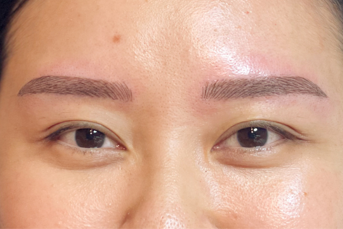 Limmy's Feather Stroke Brow Embroidery Kuan Yee Brows After First Session