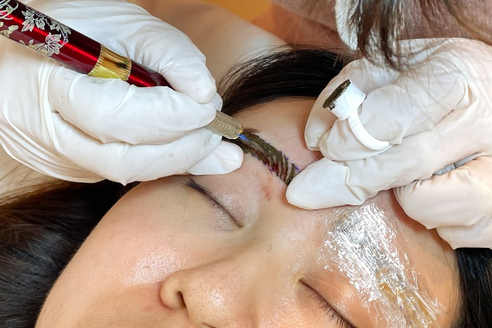 Limmy's Feather Stroke Brow Embroidery Microfeathering Technique