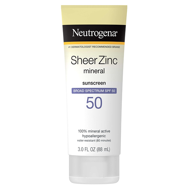 12. Neutrogena Sheer Zinc Dry Touch Sunscreen SPF 50+ PA++++