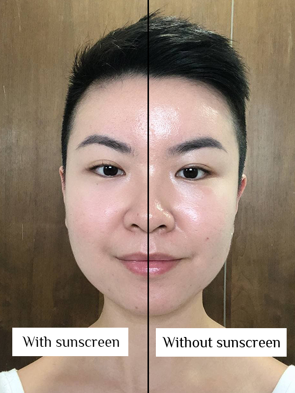La Roche-Posay Anthelios Invisible Fluid before after