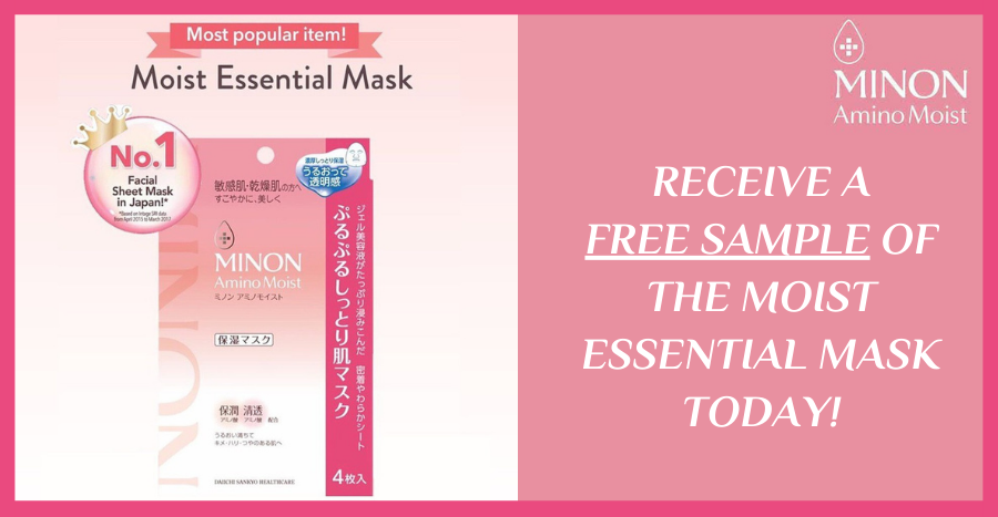 Receive a FREE Sample of MINON Amino Moist's Essential Mask now!