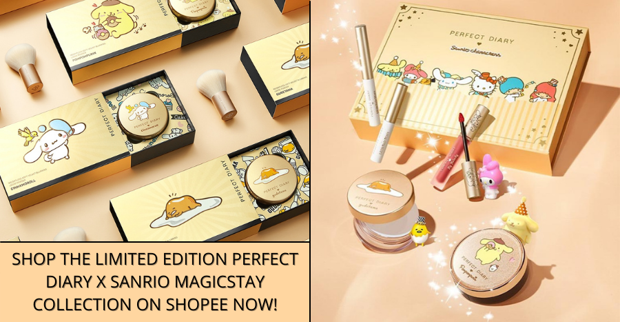 Get up to 64% off the Perfect Diary x Sanrio Makeup Collection on Shopee!