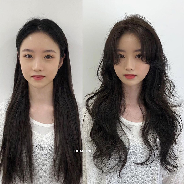 hairstyles face shape wide forehead