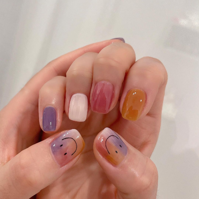 korean smudged gradient embellishments 3