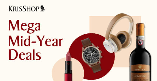 Shop KrisShop's Mega mid-year sale at up to 60% OFF and stand to win $5000 worth of prizes!