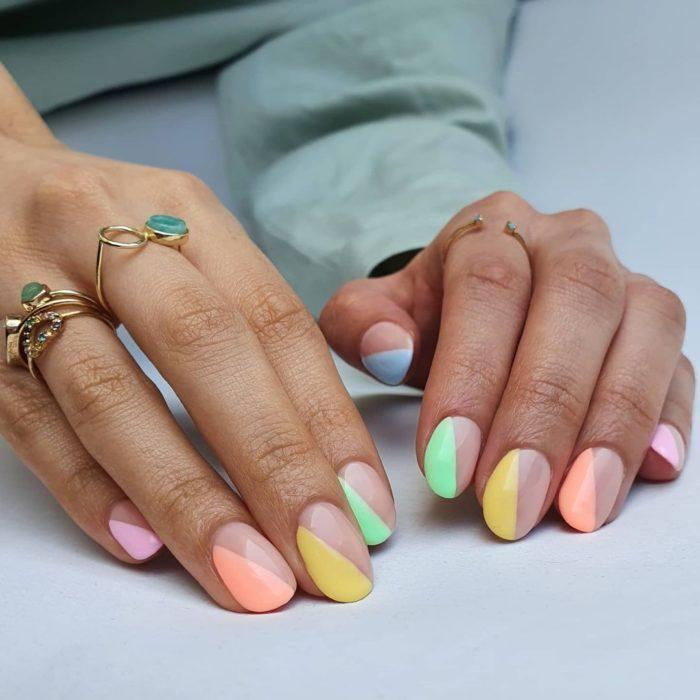 rainbow nails blank space
