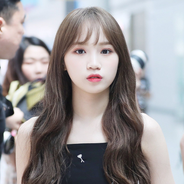 long hair with bangs for round face