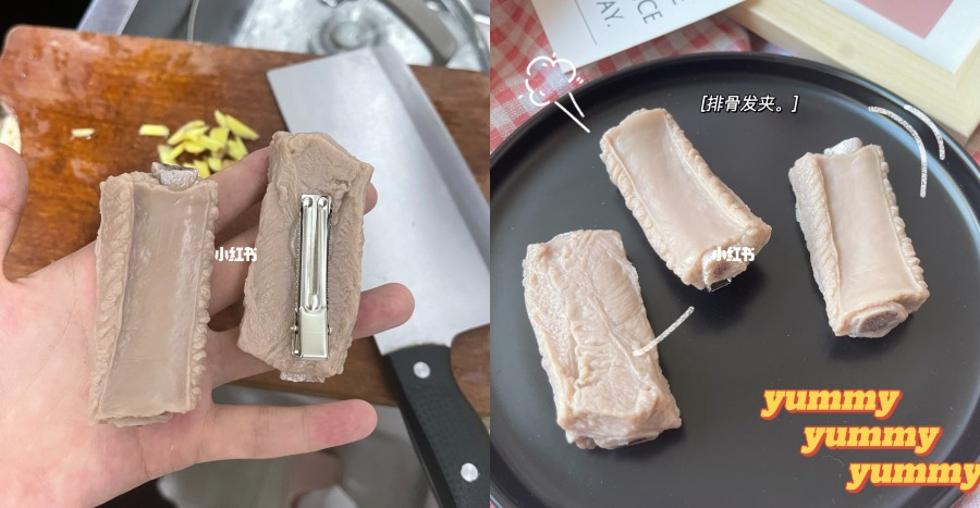 """These pork rib hair clips are taking over """"China's Instagram""""! Would you wear one out?"""
