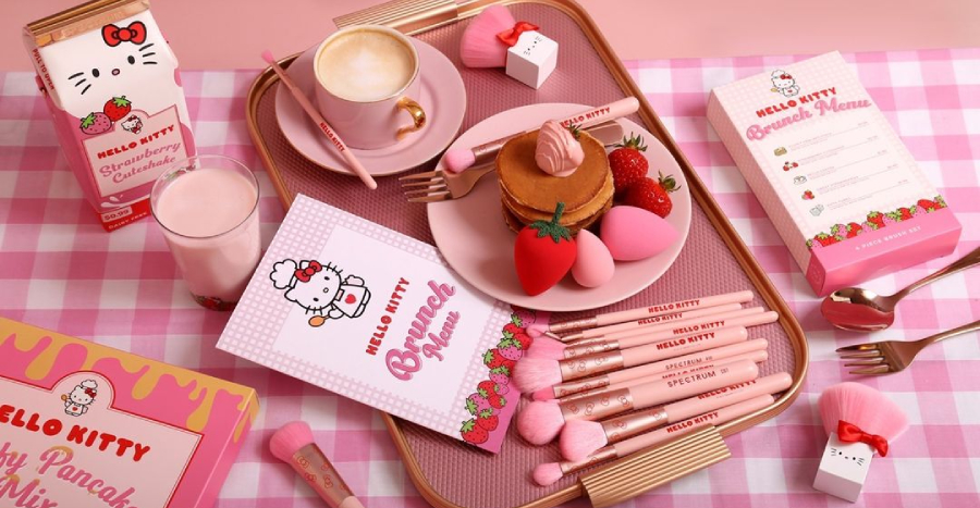 This brunch-inspired Hello Kitty collection has makeup tools that'll look oh-so cute on your vanity!