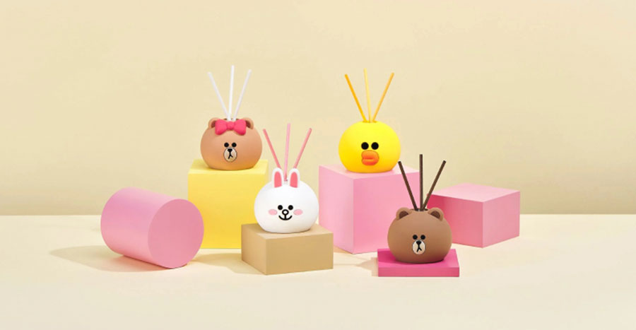 These LINE Friends fragrance diffusers are the cutest we've seen so far!