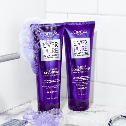 loreal paris everpure sulfate free purple shampoo conditioner
