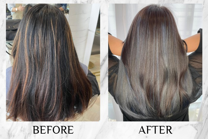 olson studio balayage hair colour review before after charmaine