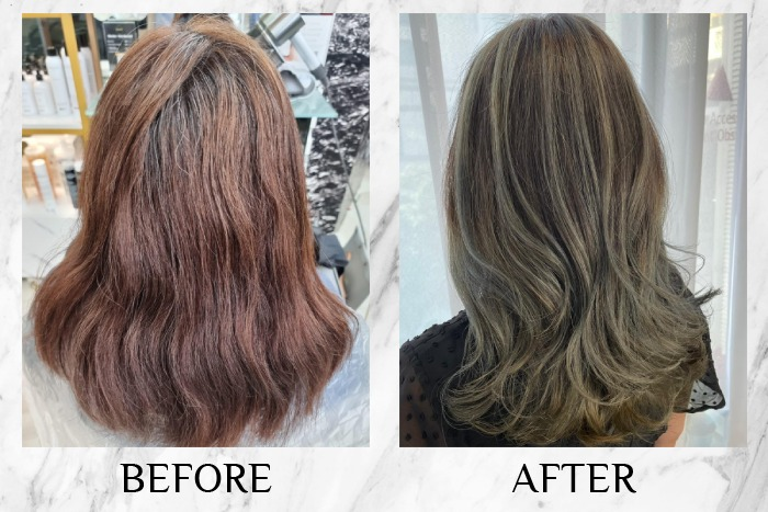 olson studio balayage hair colour review before after kimberly
