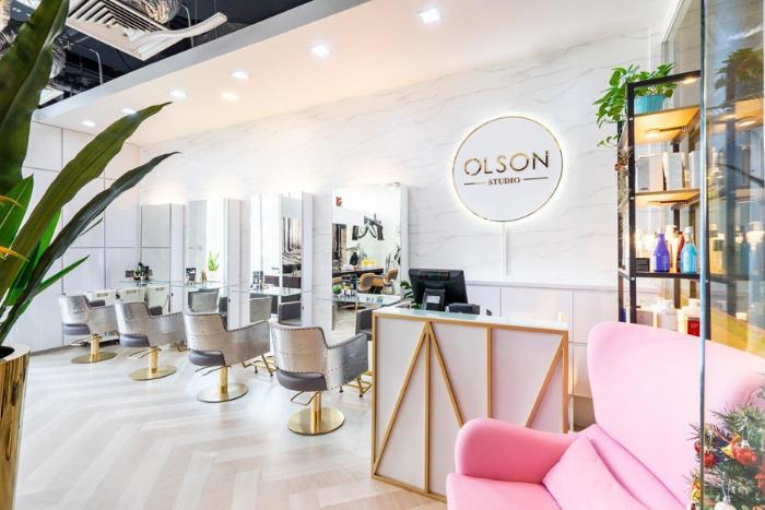 olson studio balayage hair colour review salon interior