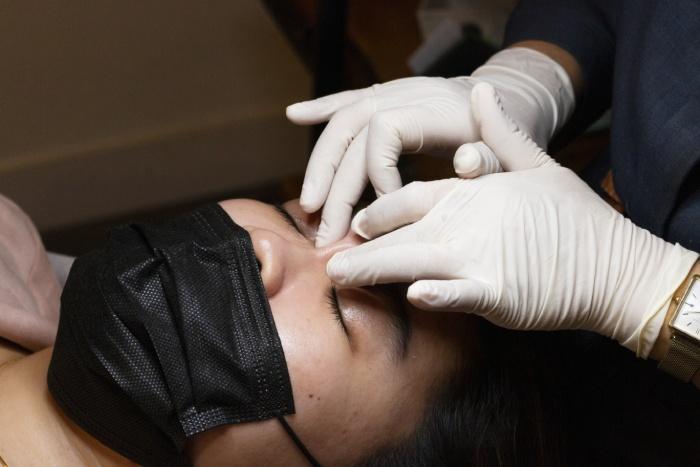 browhaus plasma lift review eye massage step