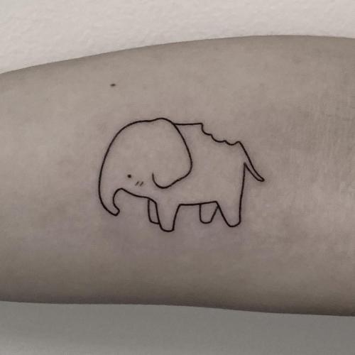 minimalist tattoo designs victoria woon hellotako elephant