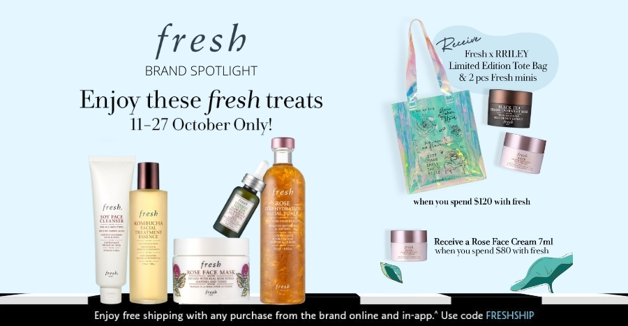 FRESH: Get the limited-edition RRILEY tote bag, along with 2-pcs FRESH minis for free – Sephora's Brand Spotlight. Limited time only!