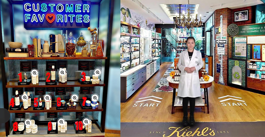 Kiehl's new virtual store has a 3D concept so you'll feel like you're visiting its boutique in person