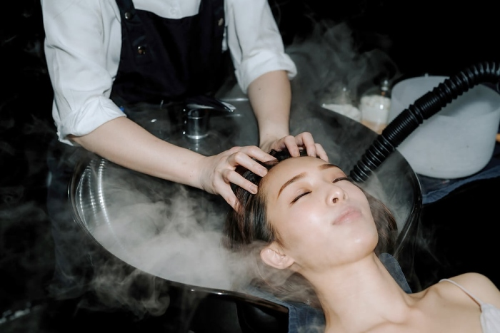 chez vous hideaway saloncation shampoo massage
