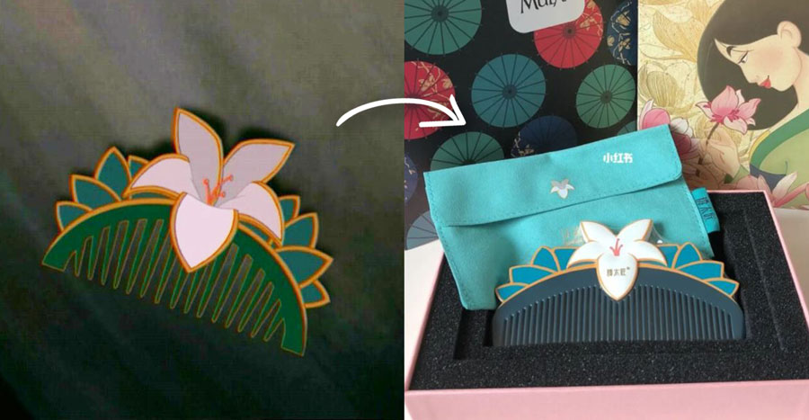 This handcrafted Mulan-inspired comb is a must-have for all Disney fans out there!